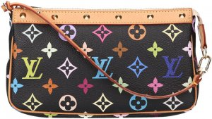 36566 Louis Vuitton Pochette Accessoires Monogram Multicolore Canvas Tasche, Handtasche, Clutch
