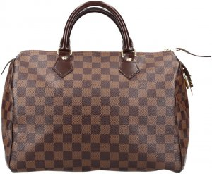 36579 Louis Vuitton Speedy 30 Damier Ebene Canvas Tasche, Handtasche
