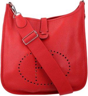 36588x Hermès Evelyne III 29 Umhängetasche aus Clemence Leder in Rot
