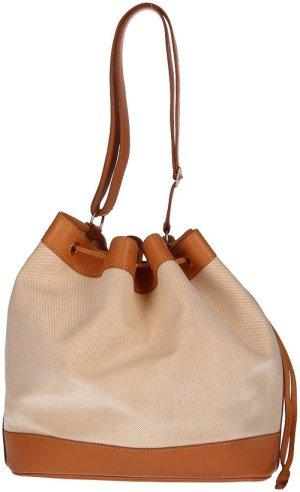 36677 Hermès Market 28 cm Schultertasche aus Toile GM und Vache Leder in Natural