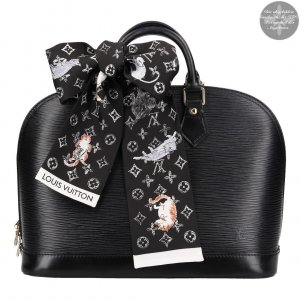 36708 Louis Vuitton Monogram Catogram Classic Bandeau Tuch in Schwarz aus Seide