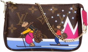36712 Louis Vuitton Mini Pochette Accessoires Clutch aus Monogram Canvas mit Box