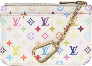 Louis Vuitton Estuche para llaves blanco-color oro