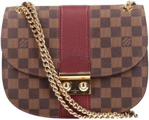 36811 Louis Vuitton Wight Damier Ebene Canvas Tasche, Handtasche in Bordeaux