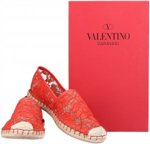 Valentino Ballerinas with Toecap red