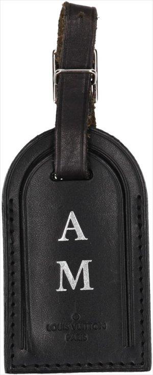 36828 Louis Vuitton Adressanhänger mit Initialen aus Rindsleder