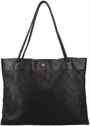36875 Chanel CC Handtasche aus Leder in Schwarz