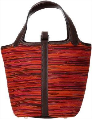 36897 Hermès Picotin Vibrato Leder in Orange und Pink Handtasche