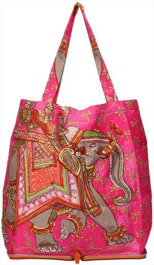 36899 Hermès Sac Silkypop aus Leder und Seide Tasche, Falttasche