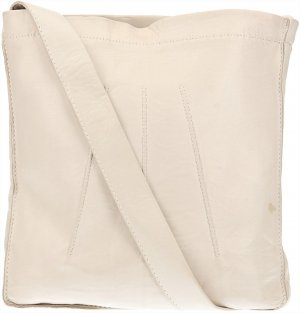 36907 Hermès Sac Toudou aus glattem Leder in Weiss Tasche, Handtasche
