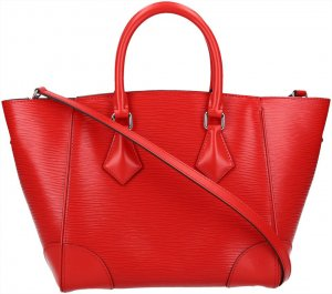 Louis Vuitton Bolso rojo-color plata Cuero