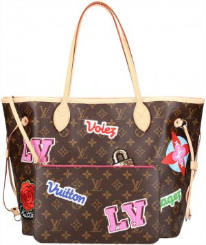 36917 Louis Vuitton Neverfull MM Monogram Canvas Tasche, Handtasche mit Box