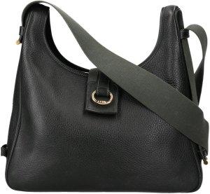 36921 Hermès Tsako aus Leder in dunkelgrün Handtasche, Tasche
