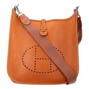36957 Hermès Evelyne PM Barenia Leder in Braun Tasche, Handtasche, Schultertasche