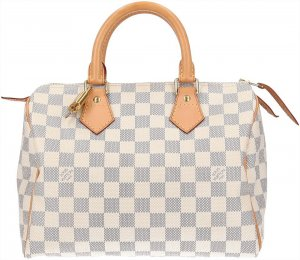 36981 Louis Vuitton Speedy 25 Damier Azur Canvas Tasche, Handtasche