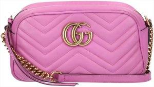 Gucci Bandolera rosa-color oro Cuero
