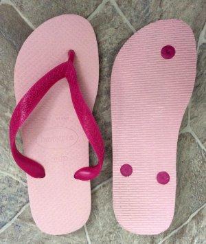 37 38 HAVAIANAS pink rosa Zehentreter Badelatschen neuwertig