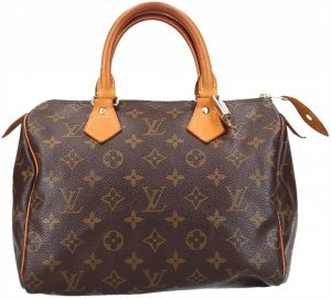 37008 Louis Vuitton Speedy 25 Monogram Canvas Tasche, Handtasche