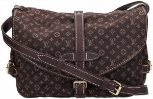 37129 Louis Vuitton Saumur 30 Monogram Mini Lin Canvas Umhängetasche
