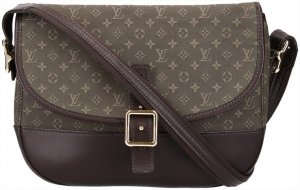 37165 Louis Vuitton Berangere Handtasche - Tasche aus Monogram Mini Lin in Kaki