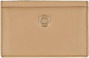 37233 Chanel CC Kartenetui Kreditkartenetui aus strukturiertem Leder in beige