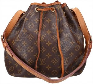 37270 Louis Vuitton Petit Noe Monogram Canvas Tasche - Handtasche