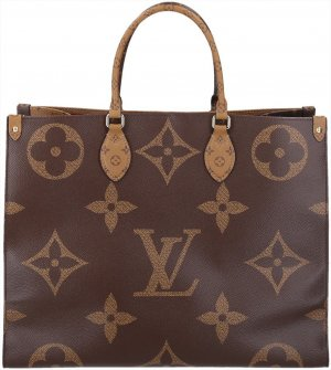 37293 Louis Vuitton Onthego Handtasche aus Monogram Giant Reverse Canvas mit Box