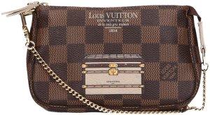 37544 Louis Vuitton Pochette Accessoires Mini aus Damier Ebene Canvas Clutch Tasche