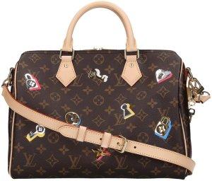 614a91cc 37556 Louis Vuitton Speedy 30 Monogram Love Lock Canvas Handtasche - Tasche