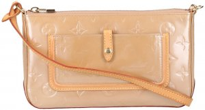 37586 Louis Vuitton Mallory Square Handtasche  - Clutch aus Monogram Vernis Leder in Noisette