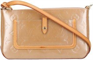 37861 Louis Vuitton Mallory Square Monogram Vernis Leder in Noisette Tasche, Handtasche