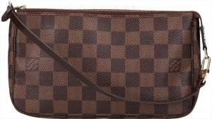 37893 Louis Vuitton Pochette Accessoires Clutch Handtasche aus Damier Ebene Canvas