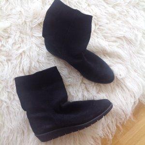379€ Arche x A.P.C. Boots Ankle Booties Keilabsatz Wedge Stiefel Stiefeletten Schwarz Minimalistsich 38