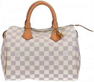37969 Louis Vuitton Speedy 25 Damier Azur Canvas Tasche, Handtasche