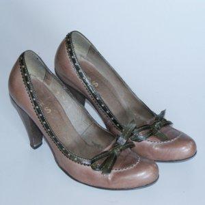 38 ● RWS Spain ● Luxus Pumps High Heels ● Braun Leder ● Business Schuhe