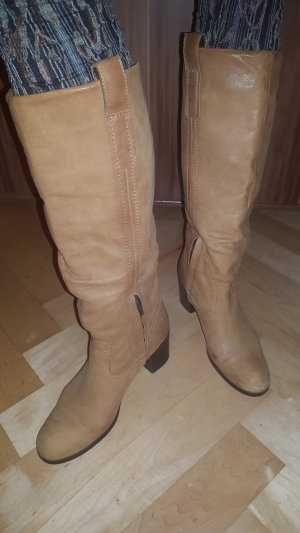 38 T River Island Stiefel Winterstiefel Leder County Style a. LONDON