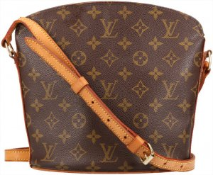 38004 Louis Vuitton Drouot Monogram Canvas Tasche, Handtasche, Umhängetasche