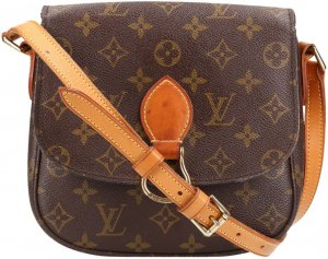 38054 Louis Vuitton Saint Cloud MM Monogram Canvas Tasche, Handtasche, Umhängetasche