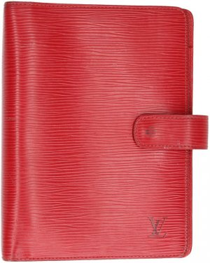 38070 Louis Vuitton Agenda Fonctionnel MM aus Epi Leder in Rouge Rot