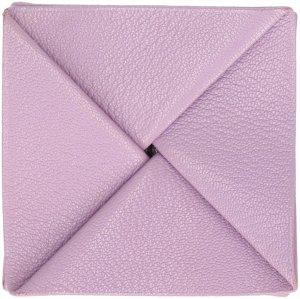 38094 Hermès Zoulou Fait Portemonnaie, Brieftasche, Geldbörse aus Leder in Lila