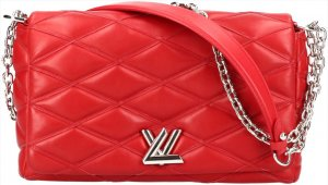 38116 Louis Vuitton Go-14 MM Mallettage Umhängetasche aus Lammleder in Rouge Rot