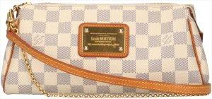 38119 Louis Vuitton Pochette Eva aus Damier Azur Canvas Tasche, Handtasche, Umhängetasche, Clutch