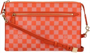 38163 Louis Vuitton Modul Damier Couleur Canvas in Piment Orange Tasche, Handtasche, Umhängetasche