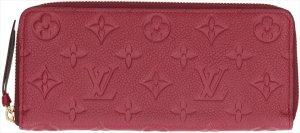 3818 Louis Vuitton Clemence aus Monogram Empreinte Leder in Raisin Geldbörse, Portemonnaie, Geldtasche