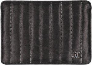 Chanel Borsa clutch nero-argento Pelle