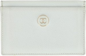 Chanel Card Case light blue leather