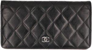 38210 Chanel CC Brieftasche, Portemonnaie, Geldbörse Leder Schwarz