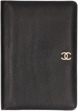 38212 Chanel Brieftasche, Portemonnaie, Geldbörse  aus Leder in den Farben Schwarz und Gold