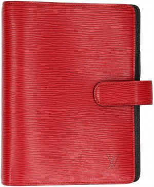 38239 Louis Vuitton Agenda Fonctionnel MM Epi Leder Castillan Rot Schreibmappe