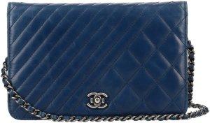 Chanel Borsa a spalla blu scuro-antracite Pelle